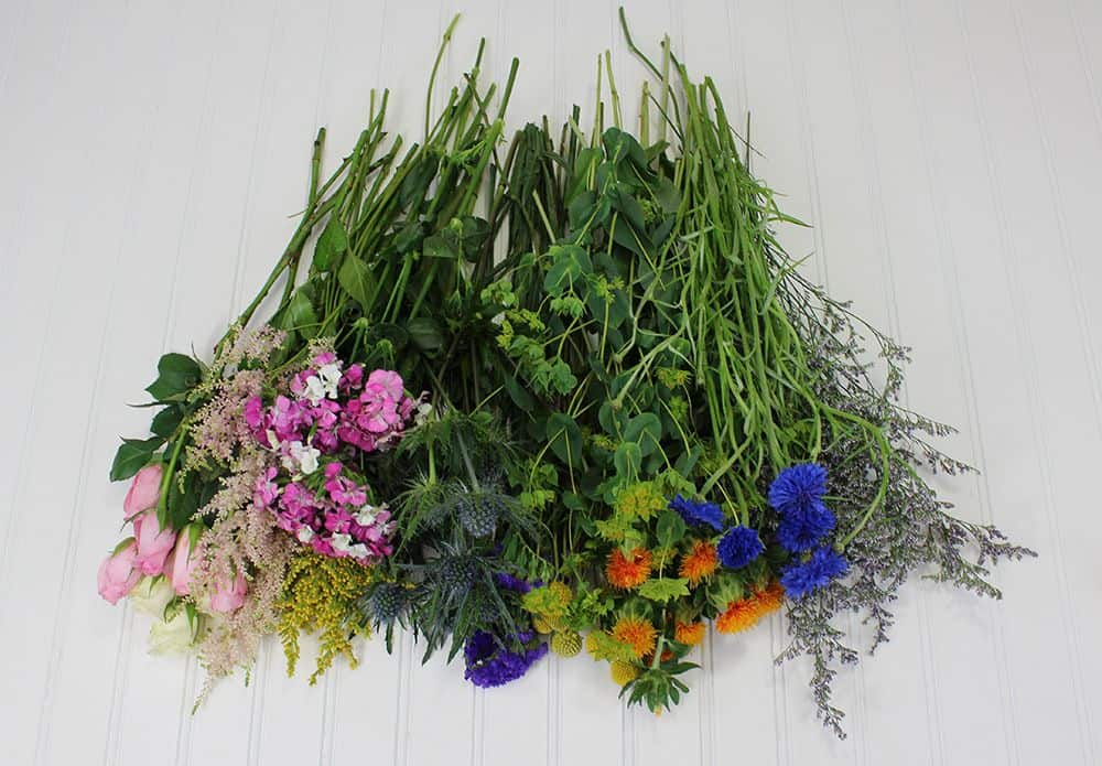 how to make a wildflower bouquet - flowers cut 1000
