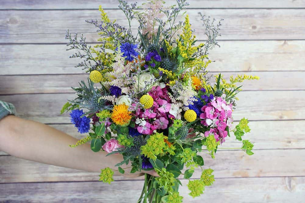 how to make a wildflower bouquet - last bunch 1000