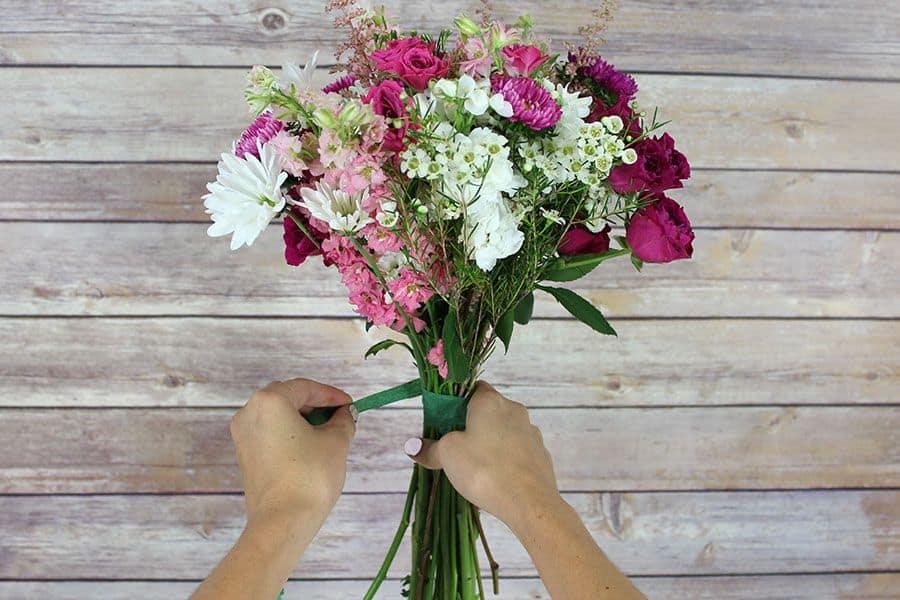 Step-4---Pink-Wildflower-Bouquet