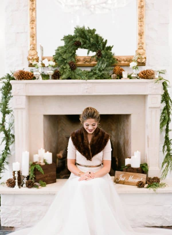 reasons to have a winter wedding greens