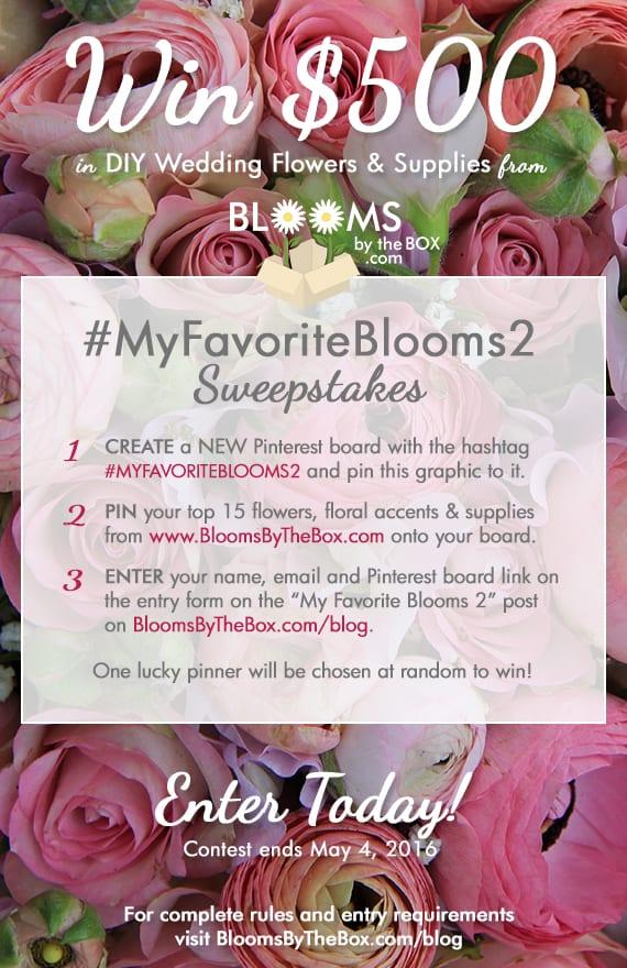 Win Wedding Flowers - #MyFavoriteBlooms2 Sweepstakes