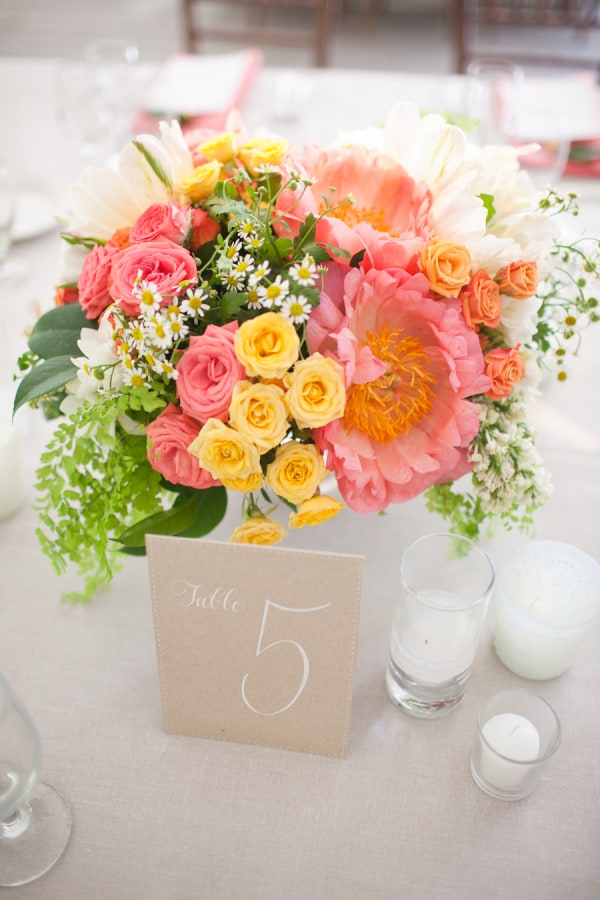 Sorbet wedding flowers