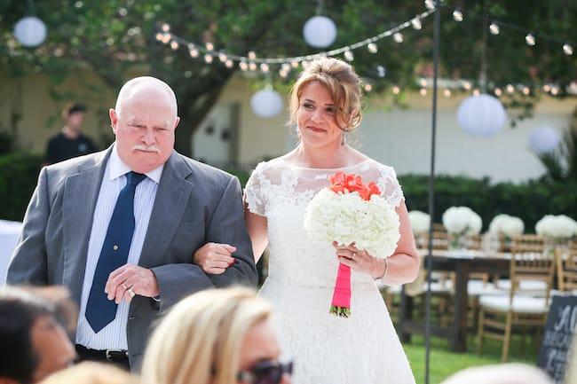 Blissful backyard vows