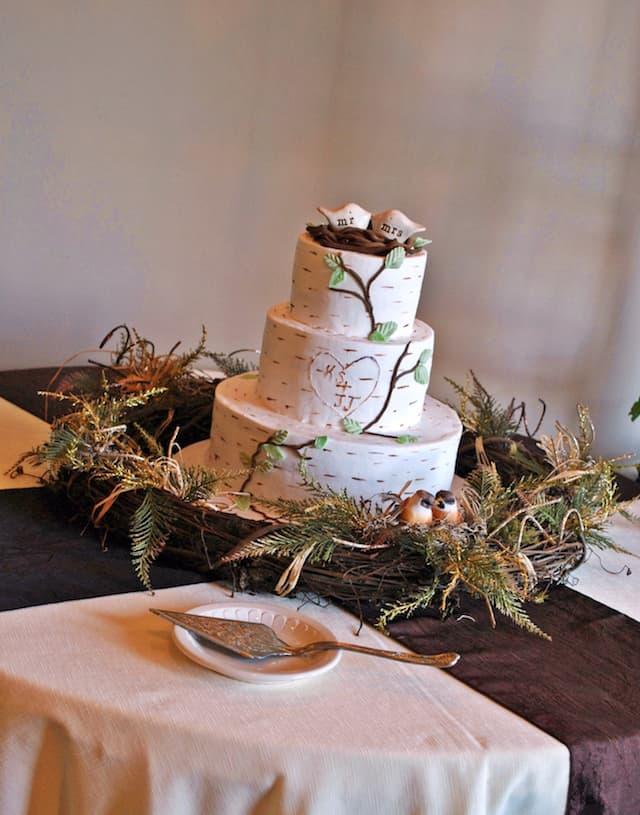 wooded wedding