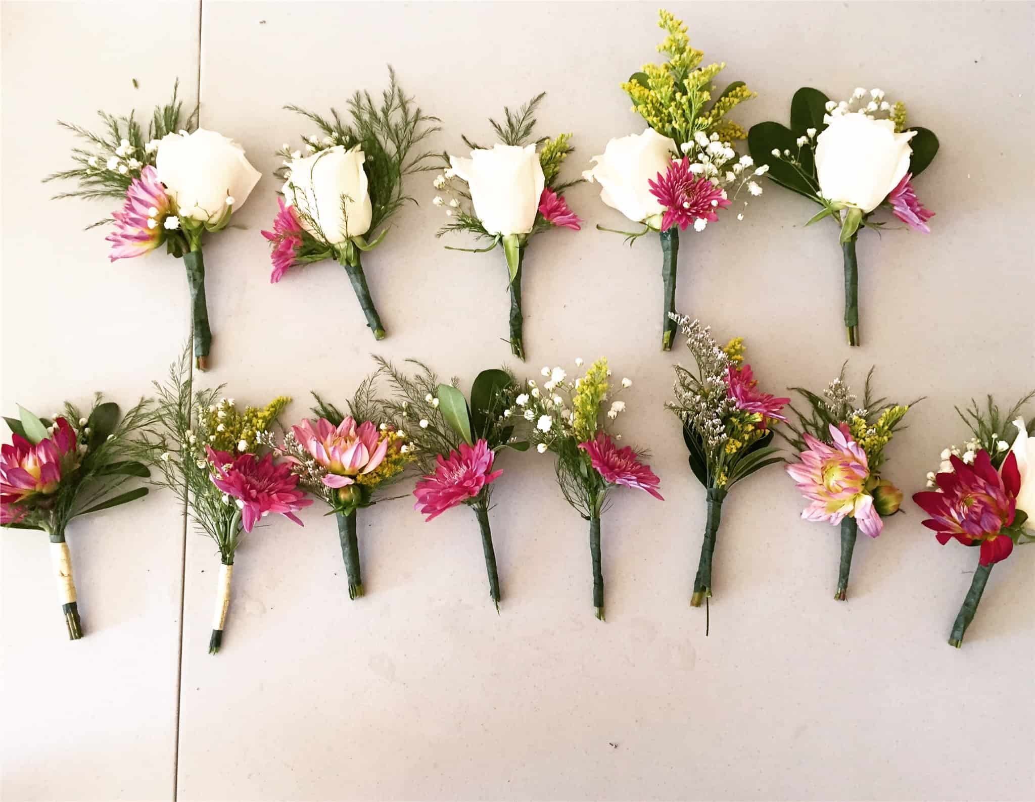 Blooms by the Box Brides  – Fuschia Real Wedding Sneak Peeks