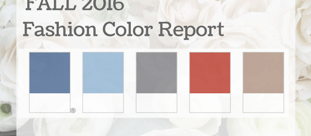 Pantone Fall Fashion Report Colors in Flowers