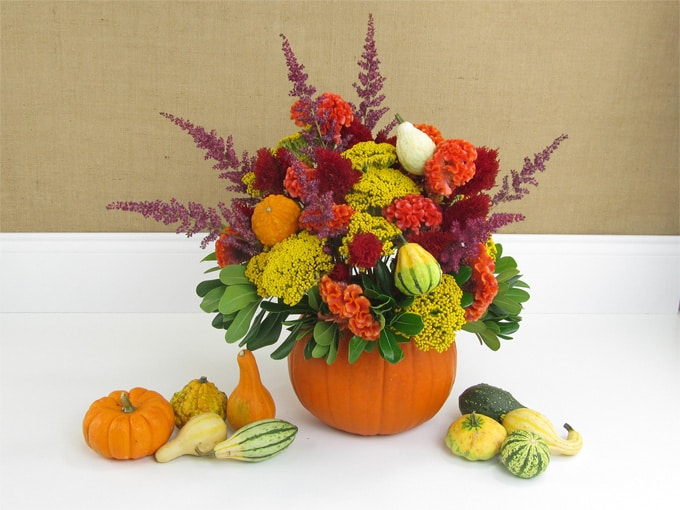 DIY Fall Pumpkin Centerpiece