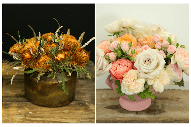 Rustic + Vintage Flower Arrangements With Touches of Fall Colors