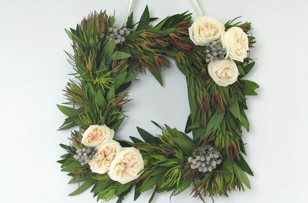 Make a Custom Holiday Wreath with Fresh Flowers