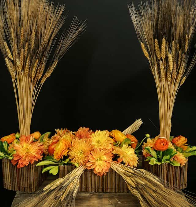 How-To Create High and Low Black Beard Wheat Centerpieces