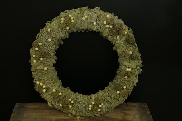 DIY Lambs Ear Pantone Green Wreath