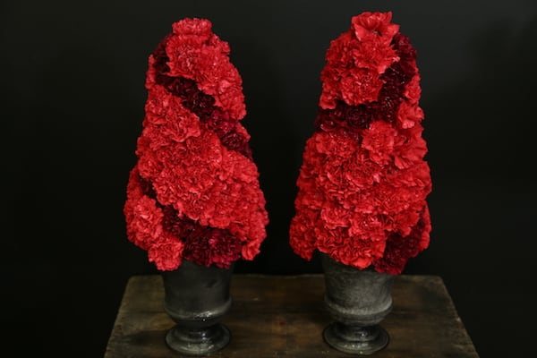 Two-Toned Red Carnation Floral Arrangement