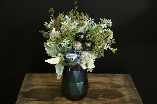 Dusty Miller Geo Floral Arrangement