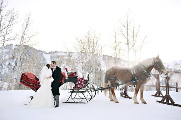 Winter Wonderland Inspired Wedding
