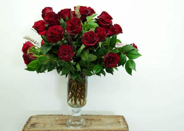 Traditional Red Rose Arrangement
