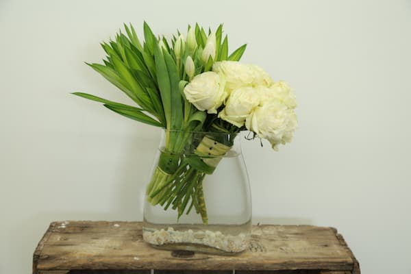 Diy Modern White Floral Arrangement Blooms By The Box