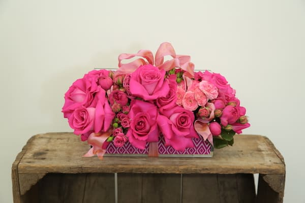 Jewelry Box filled with Passionate Pink Flowers How-To Video