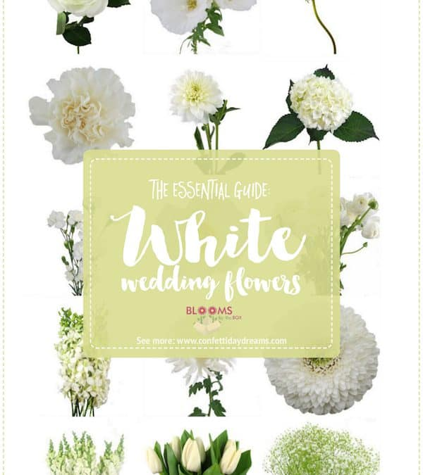 White Wedding Flowers Featured on Confetti Day Dreams