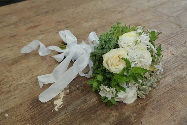 Garden, bouquet, Eddie Zaratsian, White Flowers, Green Flowers, Wedding