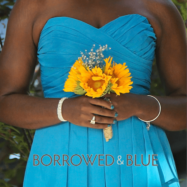 Sunflower, teal, bloomsbythebox, borrowed and blue