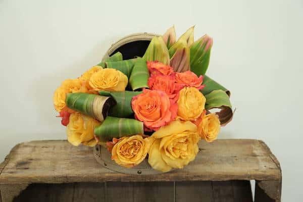 Vintage Spring Hatbox Floral Arrangement