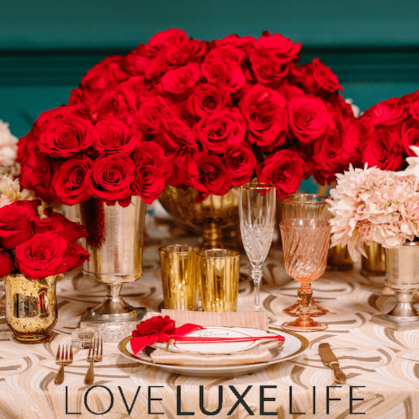 Glamorous Red Hollywood inspired Wedding Feature