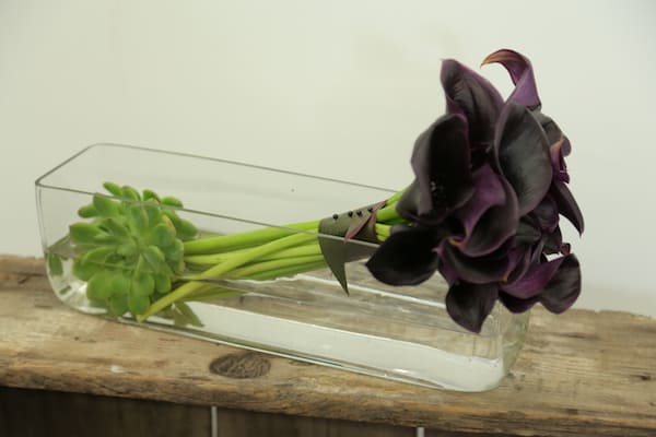 Calla Lily Floral Arrangement, Succulents, Bloomsbythebox. Eddie Zaratsian