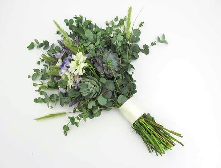 DIY Lavender Succulent Bouquet