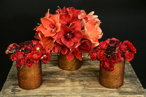 How to create your own diy pretty in red floral arrangement for Create your own flower arrangement