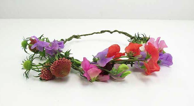 DIY Sweet Pea Flower Crown