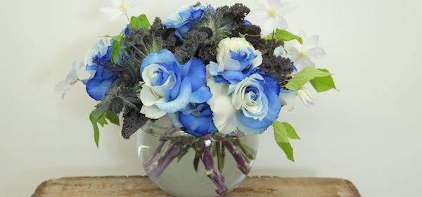 How to Create a Beautiful Dyed Blue Rose Arrangement