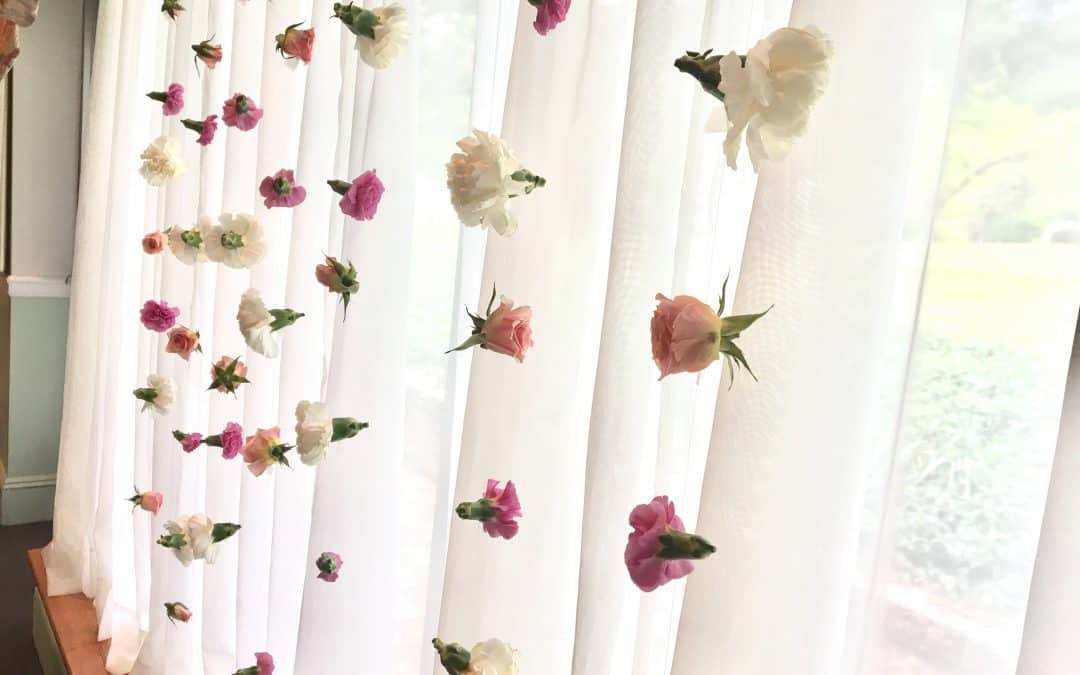 Behind The Bloom: Bridal Shower Flower Curtain