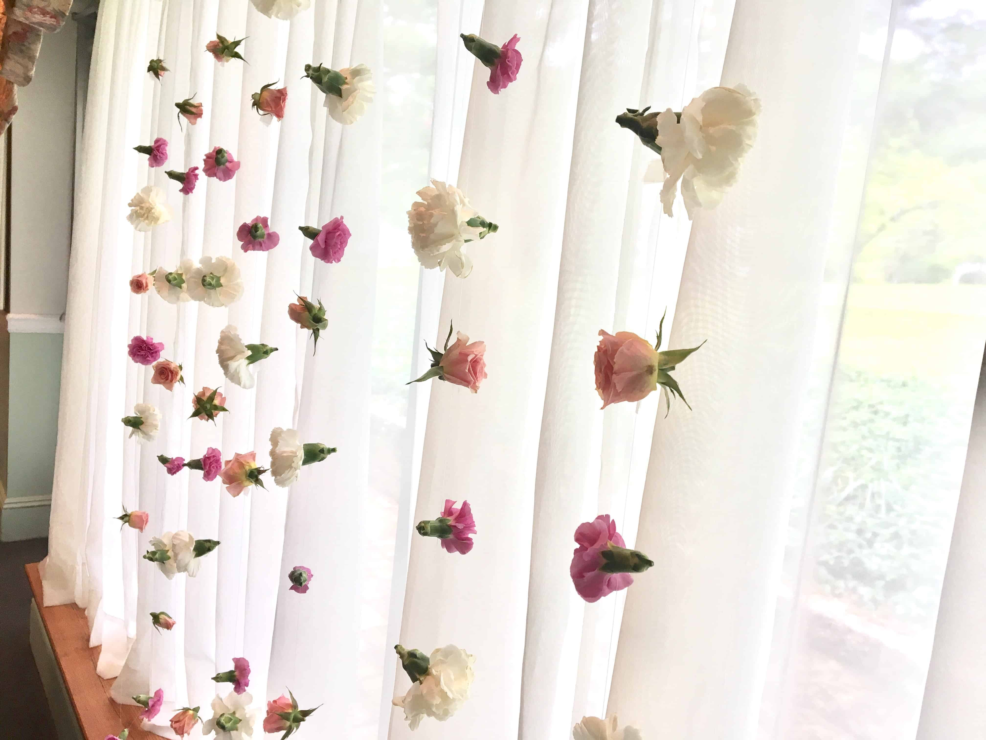 Behind The Bloom Bridal Shower Flower Curtain Budget