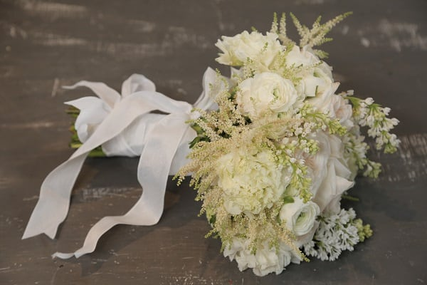 Create Your Own Classic White Bridal Bouquet
