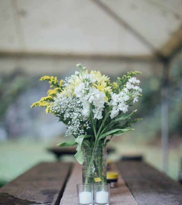 Rainy Day Wedding Inspiration with Beautiful DIY Ceremony