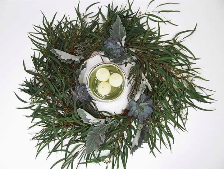 DIY Silver Eucalyptus Wreath