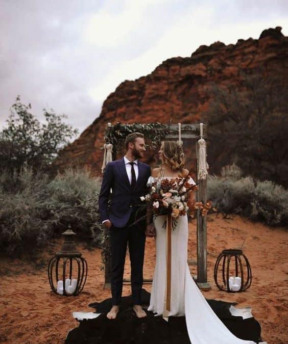 Boho Desert Theme Wedding