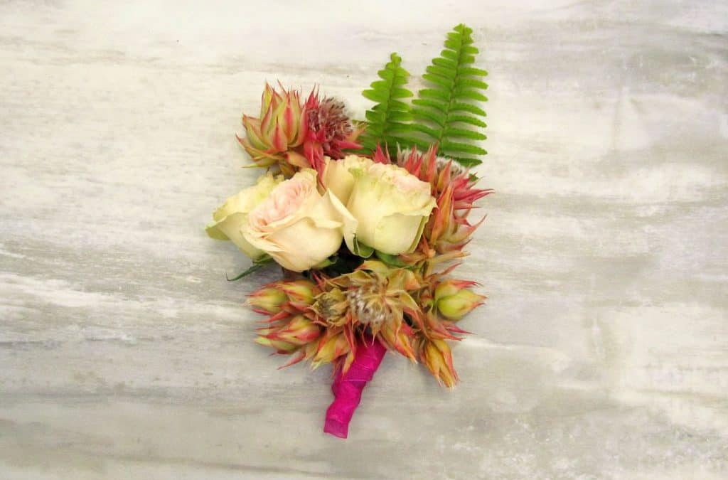 DIY Blushing Bride Boutonniere