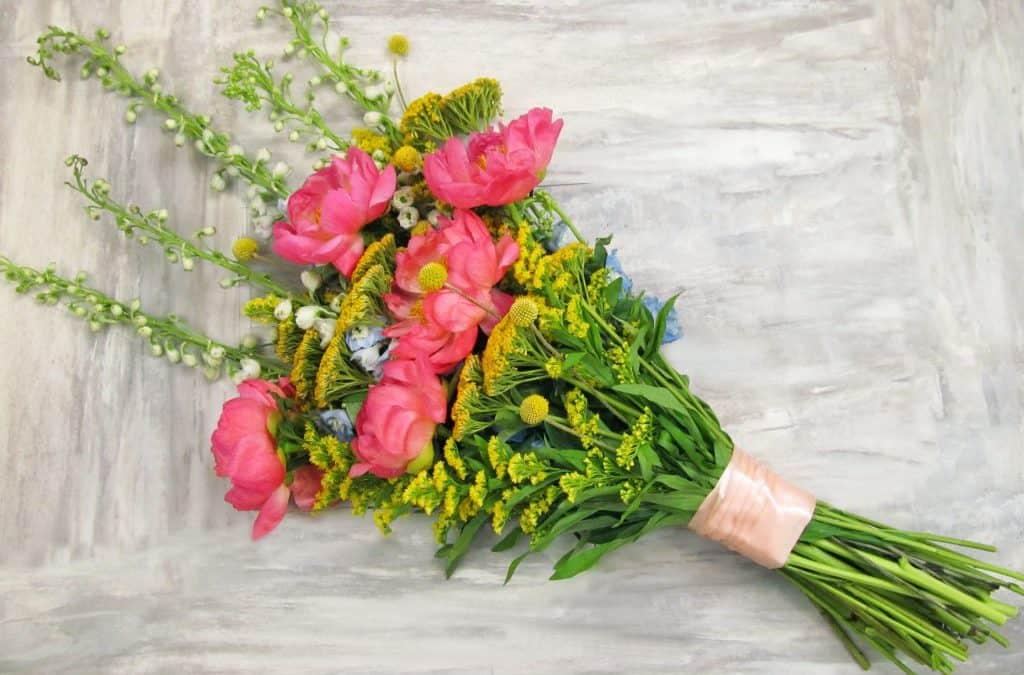 DIY Summer Peony Bouquet