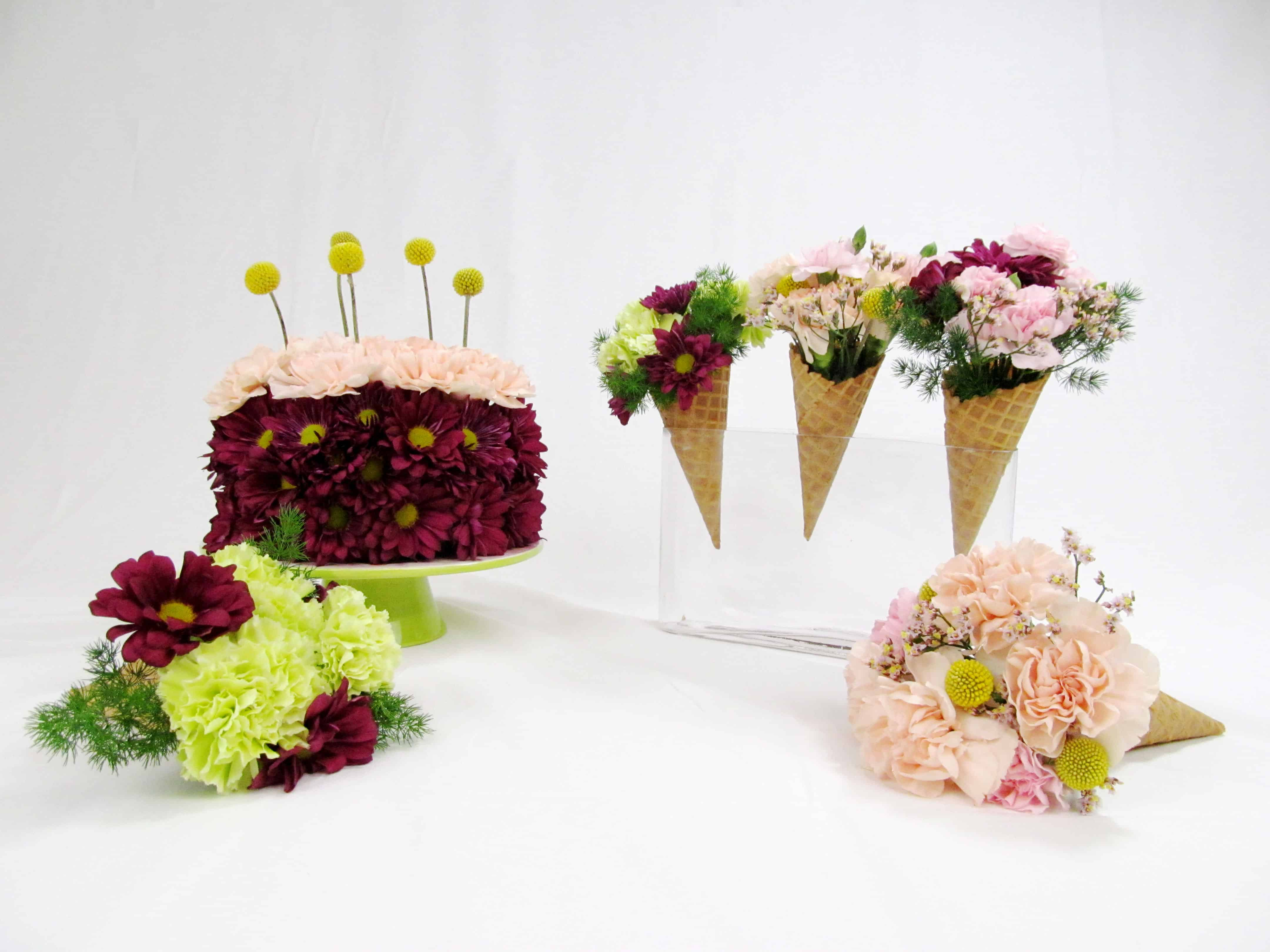 DIY Flower Cake and Ice Cream Cones - Budget Friendly Beauty