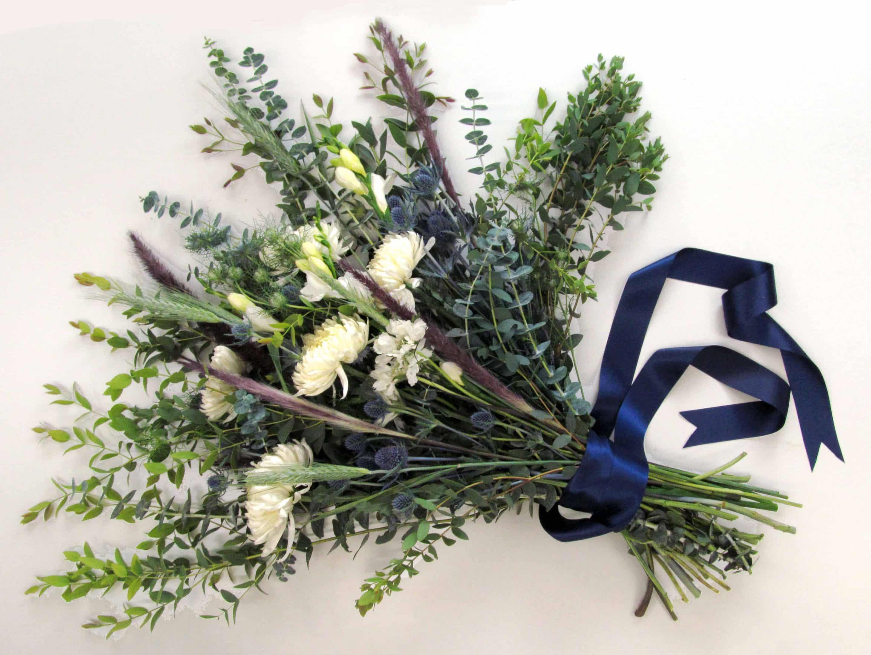 DIY Dusty Blue Bouquet - Budget Friendly Beauty