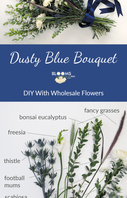 DIY Dusty Blue Bouquet