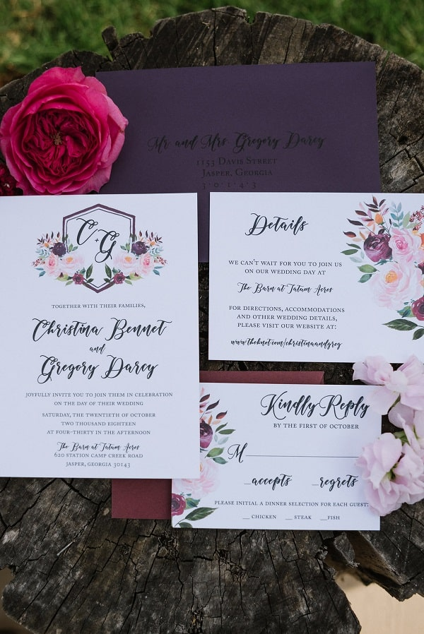 The Perfect Palette, DIY Bride, DIY Flowers, DIY Wedding, Wedding Feature, Autumn Wedding, Summer Wedding, Invitations
