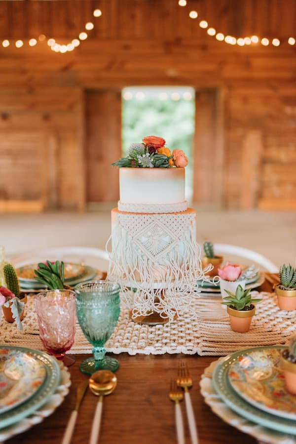 Southwest Wedding, Outdoor Wedding, Colorful Wedding, Bohemian Wedding, The Perfect Palette, Wedding Cake