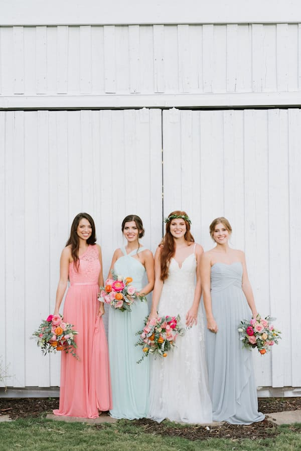 Southwest Wedding, Outdoor Wedding, Colorful Wedding, Bohemian Wedding, The Perfect Palette, Bridal Party