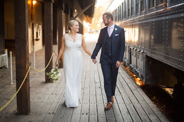 Rachel and Paul's England Inspired Wedding at Firehouse Restaurant