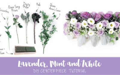 Sweet + Simple Lavender and Mint DIY Centerpiece Tutorial featured on Confetti Daydreams