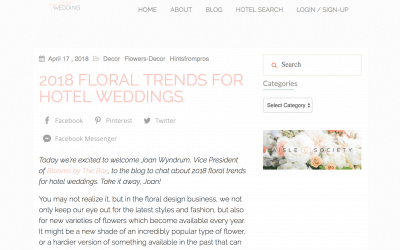 Blooms News: We're Featured on My Hotel Weddings, AllSeated, Sunset, Parade and More!