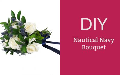DIY Nautical Navy Bouquet