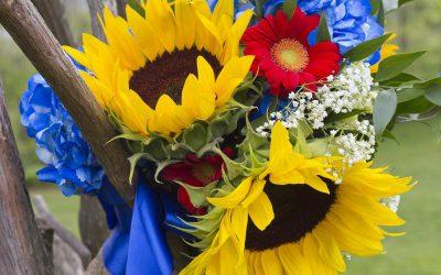 Save, Don't Splurge! Sunflower and Gerbera Daisy Bouquet